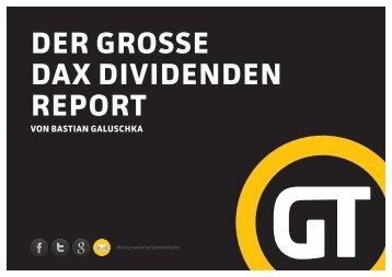 DER GROSSE DAX DIVIDENDEN REPORT