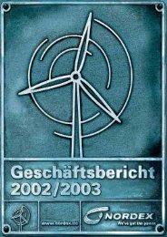 Jahresabschluss der Nordex AG zum 30. September 2003.