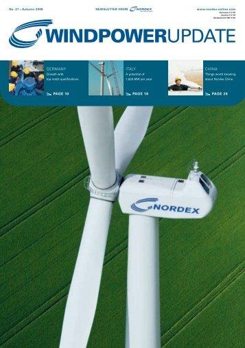 WindpowerUpdate 27 - Nordex
