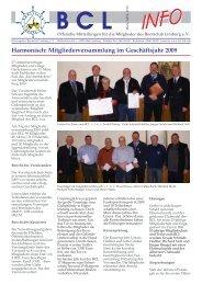 Harmonisch: Mitgliederversammlung im Geschäftsjahr 2009 - Lahn