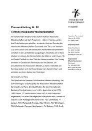Pressemitteilung Nr. 06 - Hessischer Turnverband