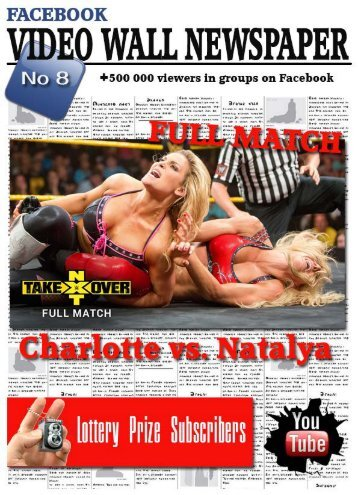 Video wall newspaper for Facebook No 8