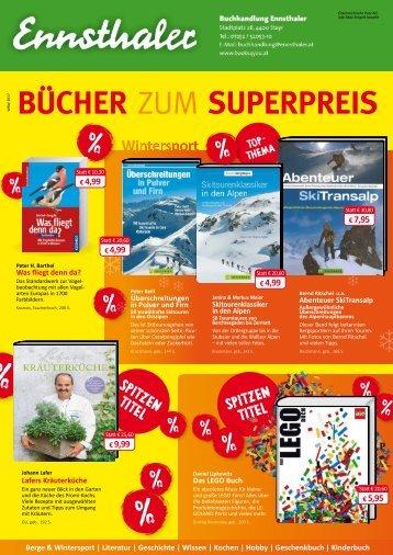 Ennsthaler Bücher zum Superpreis Jänner 2017
