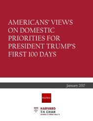 ON DOMESTIC PRIORITIES FOR PRESIDENT TRUMP'S FIRST 100 DAYS