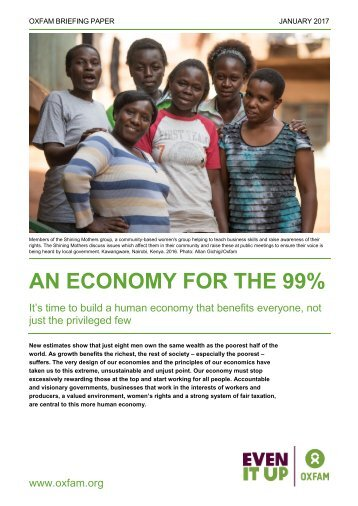 AN ECONOMY FOR THE 99%