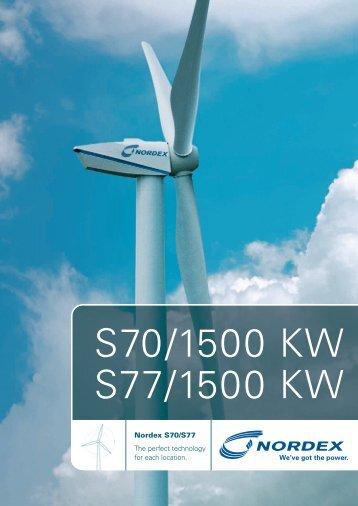 S70/1500 KW S77/1500 KW - Nordex - DIMECA