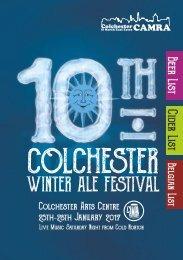 10th Colchester Winter Ale Festival Programme