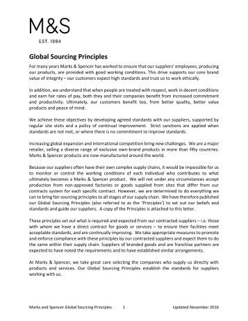 Global Sourcing Principles