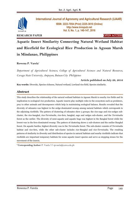 research paper about rice production in the philippines