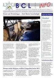Feuer am Winterlager - fünf Boote beschädigt! Rundruf - Lahn