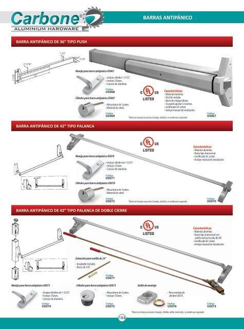 Catálogo Barras Antipánico de Aluminio