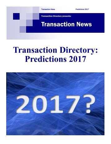 Predictions 2017