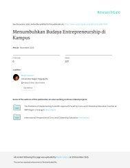 Menumbuhkan Budaya Entrepreneurship di Kampus