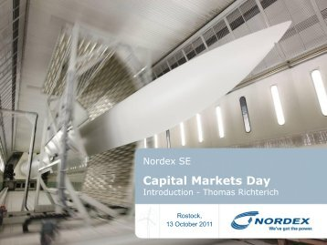 Already implemented: Additional measures: Nordex 2010
