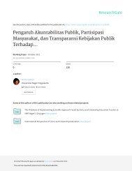 Pengaruh Akuntabilitas Publik, Partisipasi Masyarakat, dan Transparansi Kebijakan Publik Terhadap Hubungan Antara Pengetahuan Anggaran dengan Pengawasan Keuangan Daerah Kota Malang