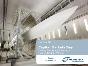 Capital Markets Day - Nordex
