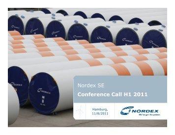 Analyst Presentation - Nordex