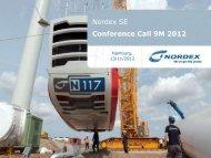 Download Analyst Presentation - Nordex