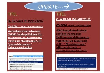 Ausbildung/ Weiterbildung/ Qualifizierung Automatiker + Mechatroniker: Texte-Uebersetzungen in deutsch-englisch/ Sprachensoftware