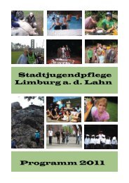 Programm 2011 Stadtjugendpflege Limburg a. d. Lahn