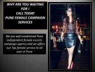 PUNE ESCORTS- Have enjoy unlimited sexual fun in Pune