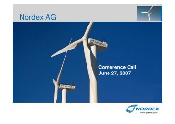 Conference Call 27-6-2007 - Nordex