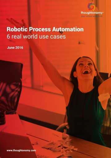 Robotic Process Automation 6 real world use cases