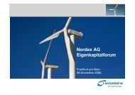 German Equity Forum - Nordex