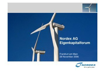 German Equity Forum - Nordex
