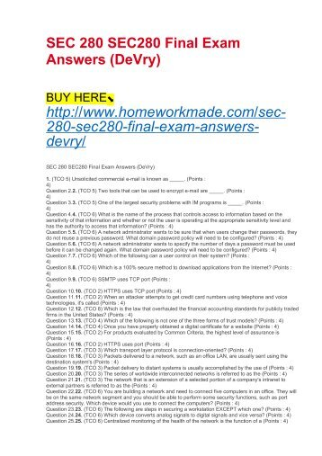 Is3230 final exam itt tech sec 280 sec280 final exam answers devry fandeluxe Choice Image