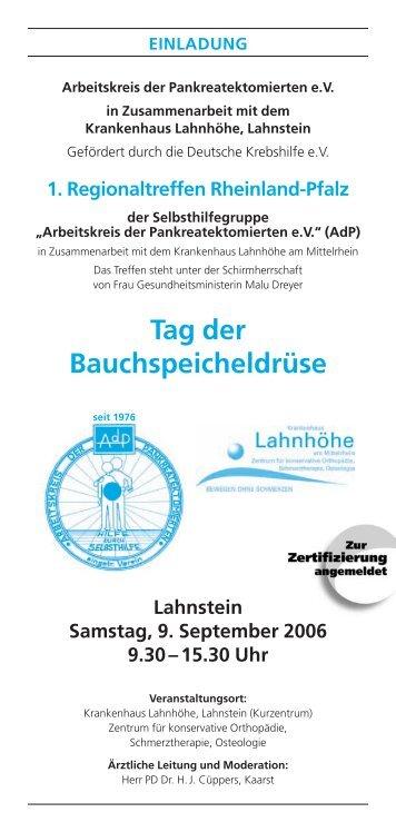 257070 Leipzig - Arbeitskreis der Pankreatektomierten e.V.
