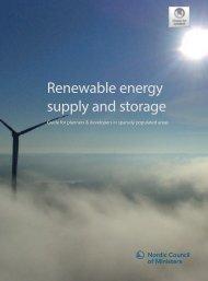 Renewable energy supply and storage