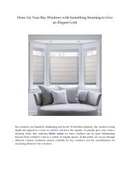 Dress Up Your Bay Windows with Something Stunning to Give an Elegant Look