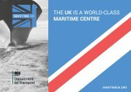 THE UK IS A WORLD-CLASS MARITIME CENTRE