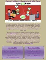 Choose Mobile App Creator for Online Bazar