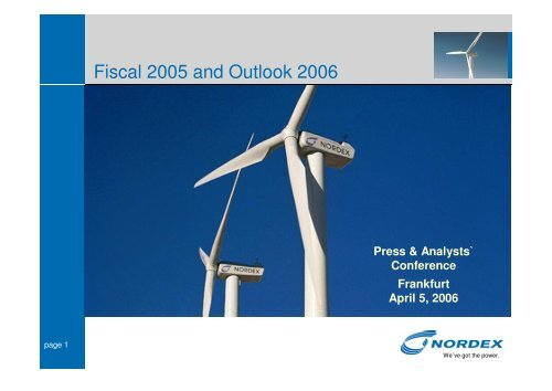 Market Forecast Nordex Outlook