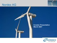 Market Development - Nordex