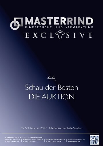 MASTERRIND EXCLUSIVE - Die Auktion: Der Katalog
