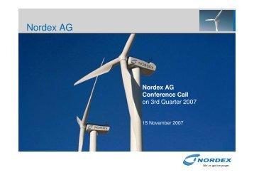 2006 and 2007 - Nordex