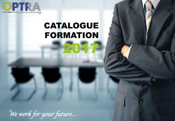 Catalogue Formation Optra Consulting 2017