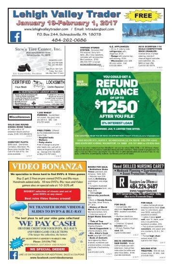 Lehigh Valley Trader January 19-February 1, 2017 issue