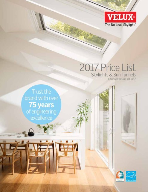 VELUX Price List 2017 on