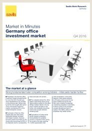 Market in Minutes Germany office investment market