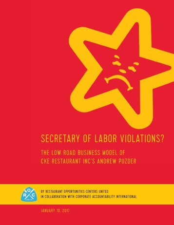 SECRETARY OF LABOR VIOLATIONS?