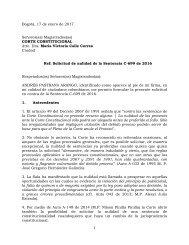Solicitud de nulidad de la Sentencia C-699 de 2016