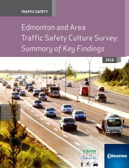 Edmonton and Area Traffic Safety Culture Survey Summary of Key Findings