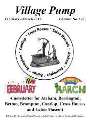 Berrington Village Pump Edition 127 (Feb - Mar 2017)