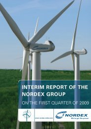 INTERIM REPORT OF THE NORDEX GROUP