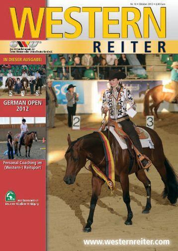 GERMAN OPEN 2012 - Erste Westernreiter Union Deutschland e.V.
