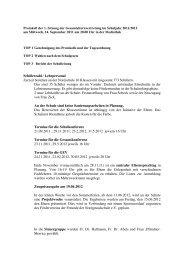 Protokoll der 1. GEV Sitzung